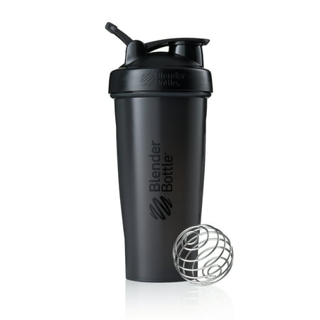 BlenderBottle 28oz Classic Shaker Cup Full Color Black 28 Ounce Blender Bottle