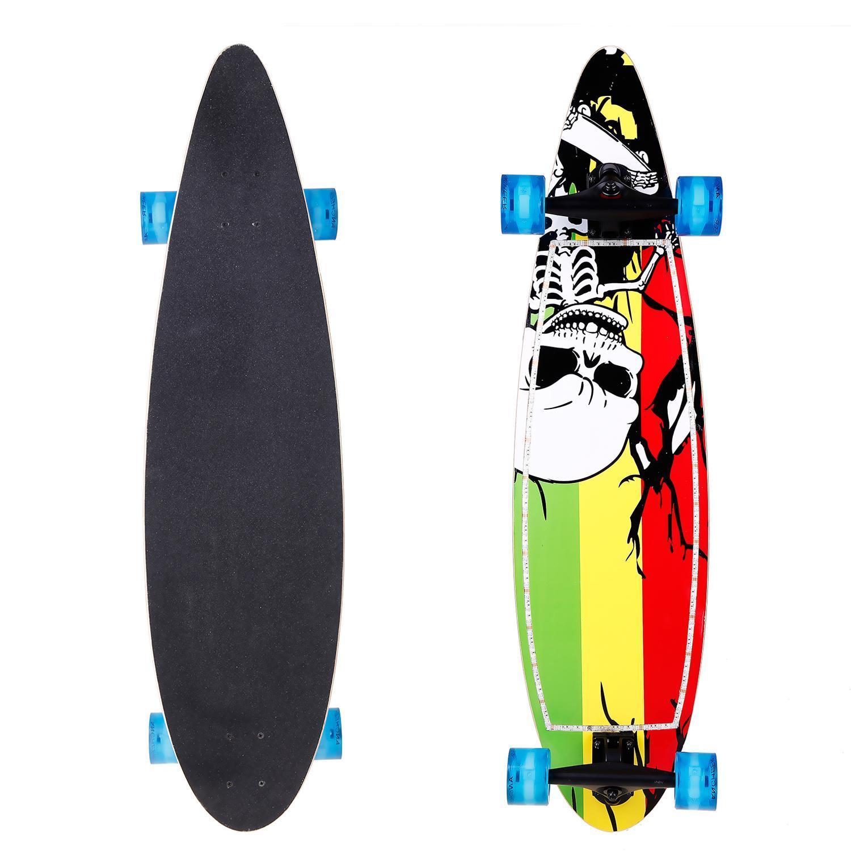 "Skateboard Sports  40""  Print LED Flashing Ultra Longboar..."