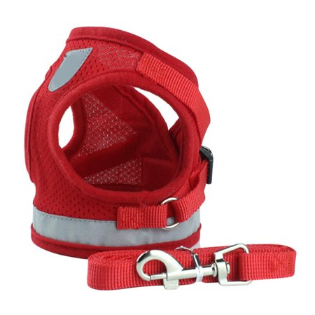 Adjustable Pet Dogs Chest Vest Harness Reflective Strap Vest With Leash Camo Reflective Vest Harness