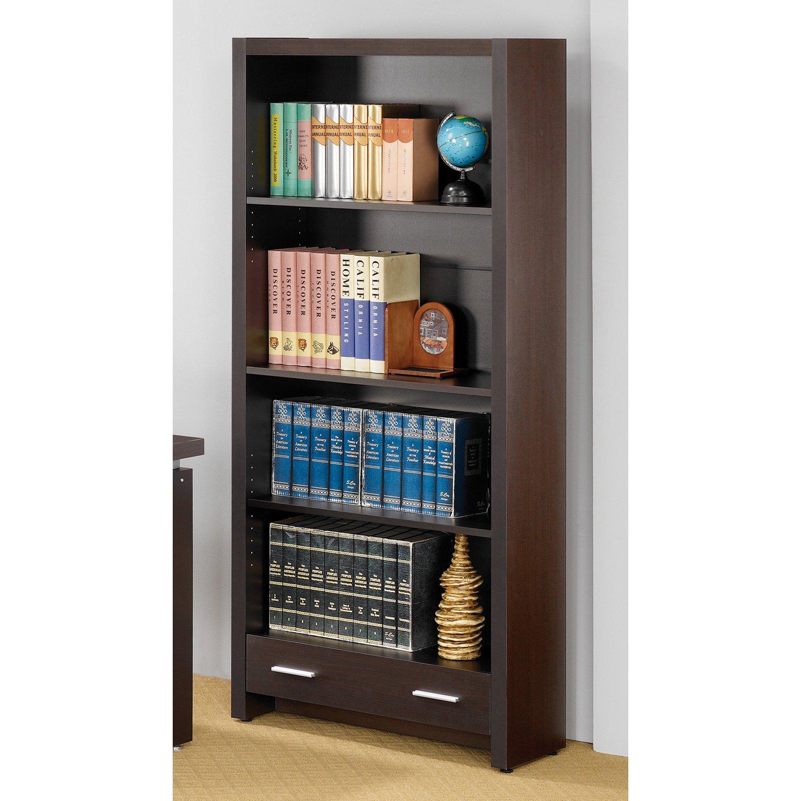 Coaster Company Bookcase, Cappuccino