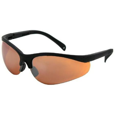 Safety Vu Half Rimless Safety Glasses, Orange