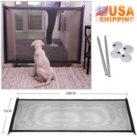Portable Folding Safety Magic Gate Guard Mesh Fence Net for Pets Dog Puppy Cat](Dog Fence Diy Halloween)