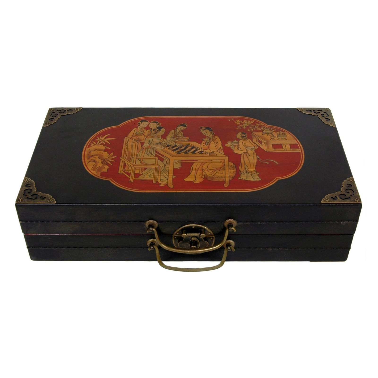 Oriental Furniture Chess Set Box Black by Oriental Unlimited, Inc.