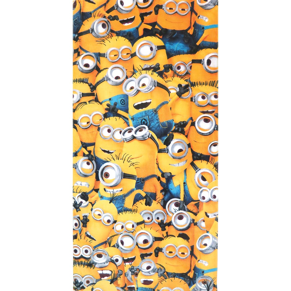 "Despicable Me Bunch Of Minions Mingling Beach Towel - 100% Cotton 28"" X 58"""