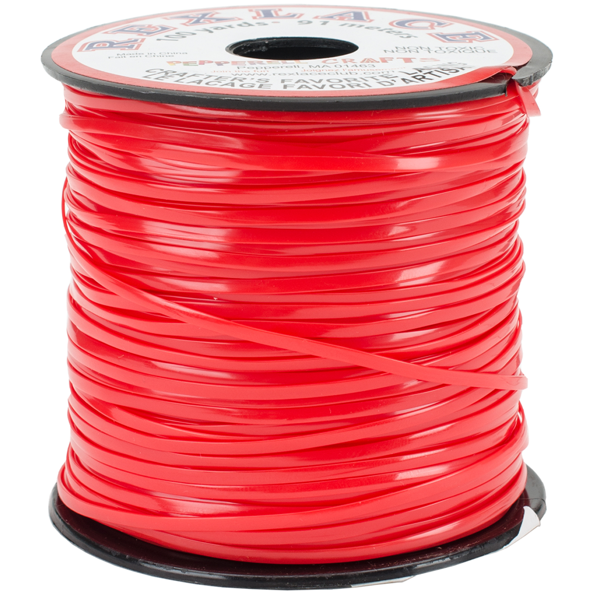 """Rexlace Plastic Lacing .0938""""X100yd-Red"""