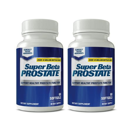 (2 pack) Super Beta Prostate with Beta Sitosterol & Vitamin D3, Softgels, 60 CT