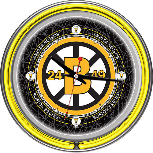 "NHL Vintage Boston Bruins 14"" Neon Wall Clock"