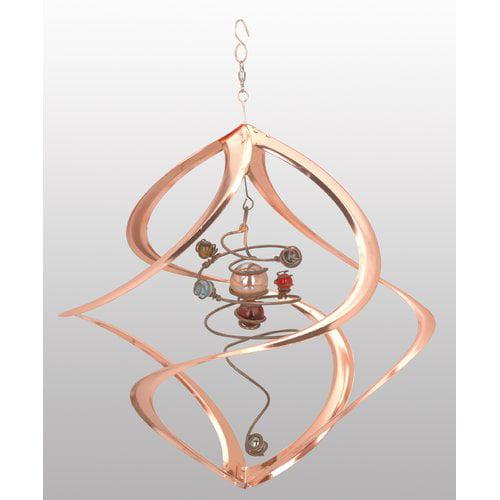 17 Inch Spiral Planet Copper Wind Spinner, 809048310542 by Red Carpet Studios Ltd