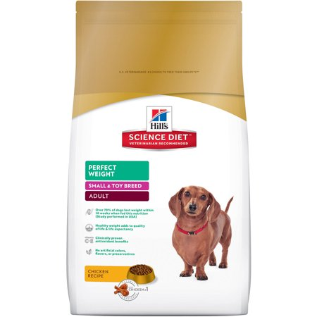 Hill's Science Diet (Get $5 back for every $20 spent) Adult Small & Toy Breed Perfect Weight Chicken Recipe Dry Dog Food, 15 lb bag - Halloween Food Guts