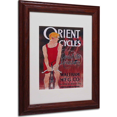 "Trademark Fine Art ""Bike 42"" Matted Framed Art by Vintage Apple Collection, Wood Frame"