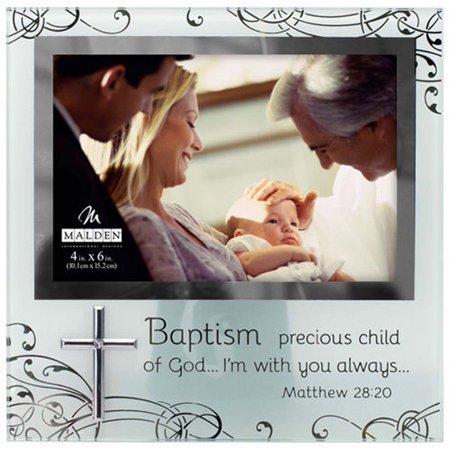 Malden 4x6 Baptism Frosted Glass - Baptism Frame