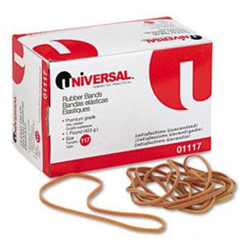 Universal Office Products Rubber Band Size 117 7X1/8 210Bands per 1Lb Pack 01117