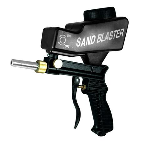 Rust Removal Paint - Anti-rust Sand Blasting Gun Gravity Type Sandblasting Sand Spray Gun Portable Sandblaster Machine for Paint Rust Removal (Black)
