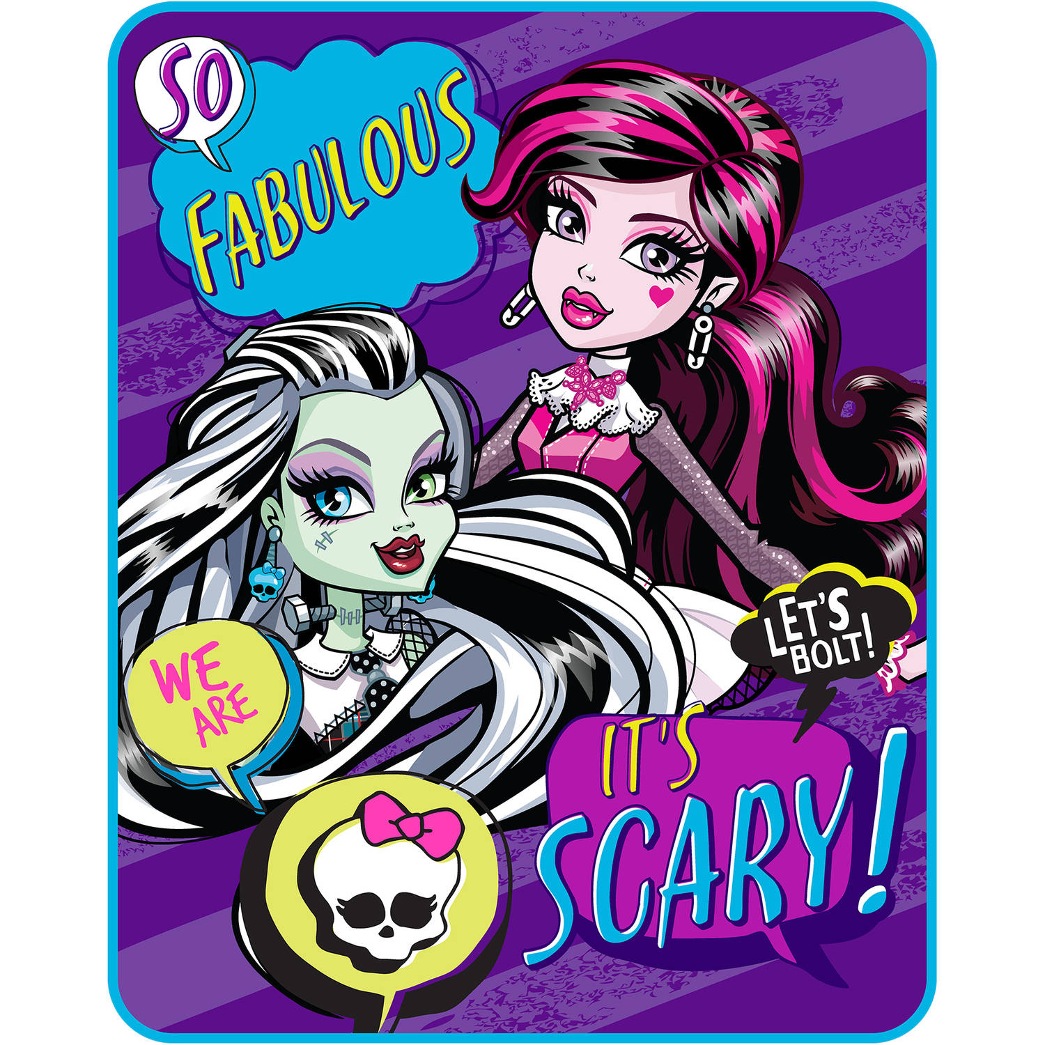 "Monster High ""School Girls"" Kids' Silky Soft 40"" x 50"" Throw"