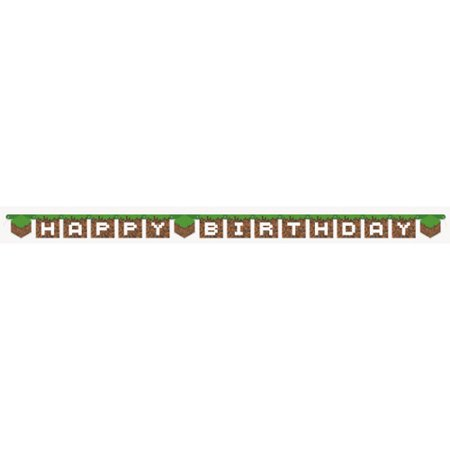 Minecraft Happy Birthday Banner (1ct)](Minecraft Birthday Party Supplies)