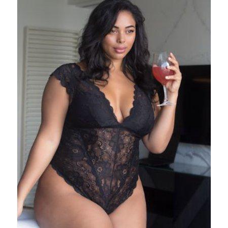 937e09ee4a3 Oh La La Cheri - Oh La La Cheri Plus Size Real Lingerie Suzette Lace Teddy  - Walmart.com