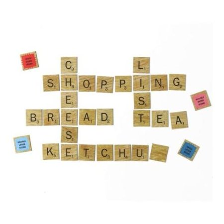 Fridge Letter and Word Score Tile Magnets Double Raised Wood Letter