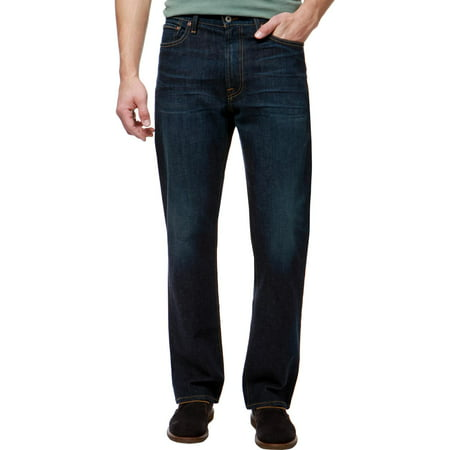 Lucky Brand Mens Mid-Rise Relaxed Fit Straight Leg Jeans