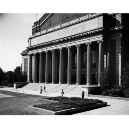 Posterazzi SAL25543947 People Walking in Front of a University Building Cyrus Northrop Memorial Auditorium University of Minnesota Poster Print - 18 x 24 in. - image 1 of 1