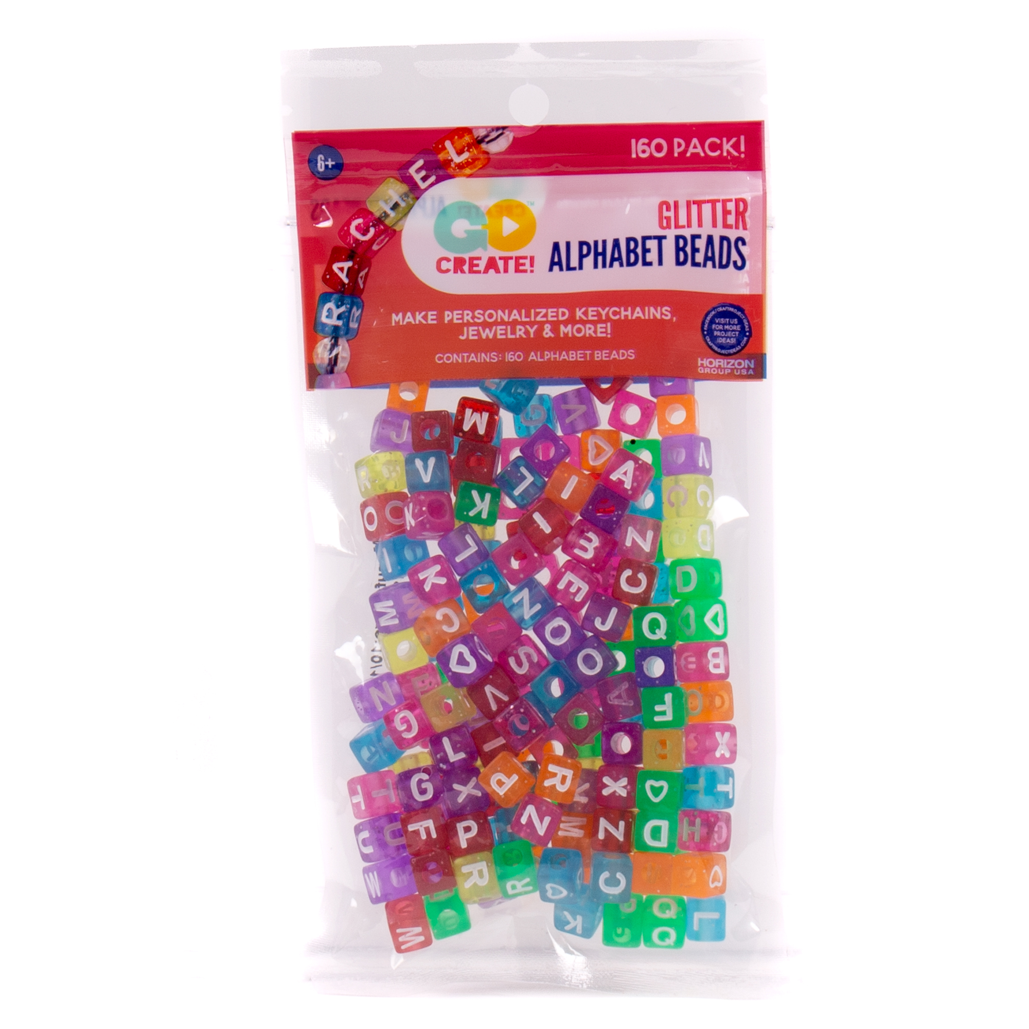 Go Create™ Assorted Glitter Alphabet Beads