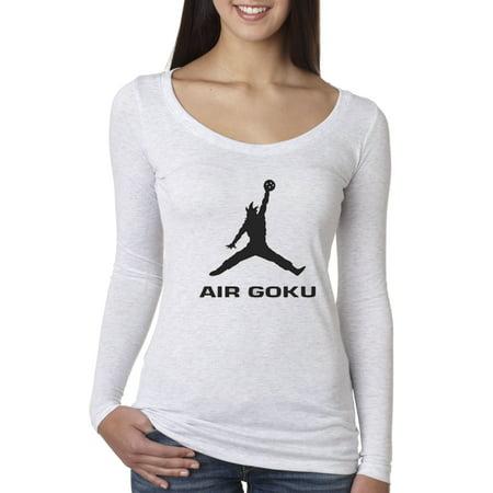 New Way 629 - Women's Long Sleeve T-Shirt Air Goku Dbz Dragon Ball Z Jordan Parody (Jordan Air 6 Girls)