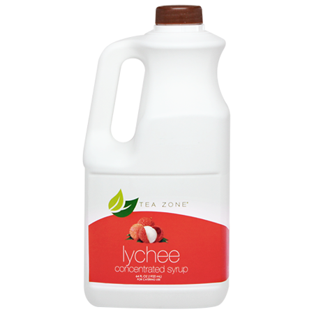 Tea Zone LYCHEE Concentrated Real Fruit Juice Syrup 64 Fl. (Fruit Smoothie Concentrate)