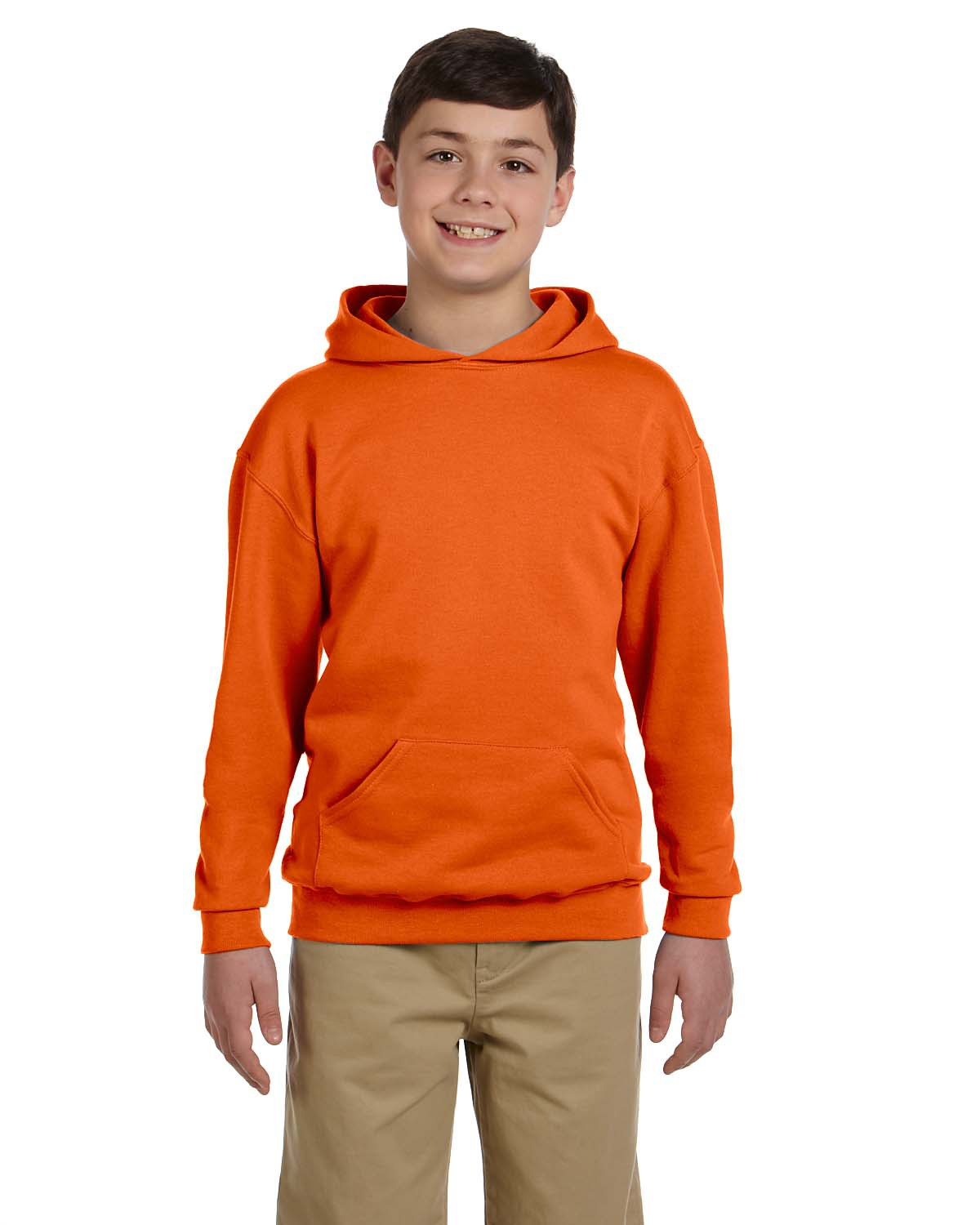 A Product of Jerzees Youth 8 oz. NuBlend® Fleece Pullover Hood - TRUE RED - M [Saving and Discount on bulk, Code Christo]