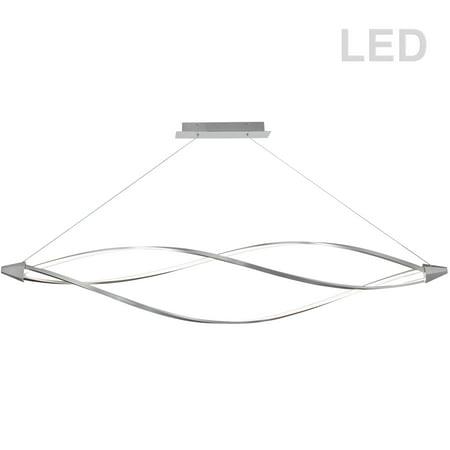 Lite Satin Chrome Pendant (Dainolite 53W LED Horizontal Pendant, Satin Chrome)