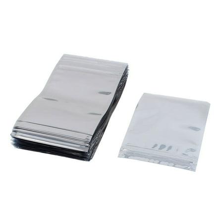 - Uxcell 100 Pcs 90mm x 130mm Silver Tone Resealable Zip Lock Anti Static Bag