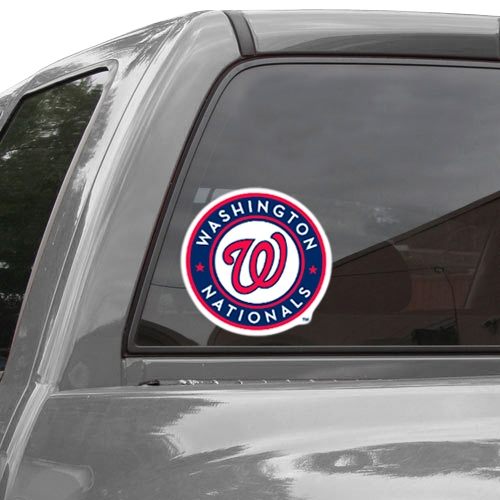 "WinCraft Washington Nationals 8"" x 8"" Color Team Logo Car Decal - Navy Blue/Red- - No Size"