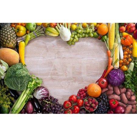 Heart Shaped Food Print Wall Art By Romario Ien ()
