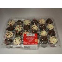 Product Image The Bakery At Walmart Red Velvet And Chocolate Mini Cupcakes 24ct