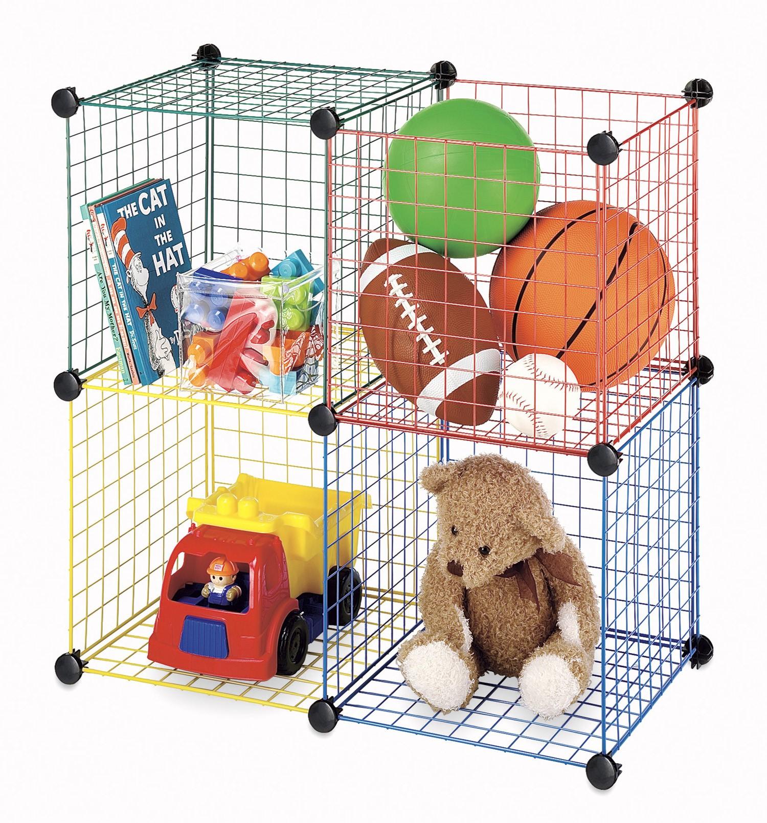 Charmant Whitmor Kids Storage Cubes Multicolor Set Of 4   Walmart.com