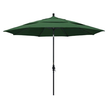 California Umbrella 11' Patio Umbrella in Hunter Green