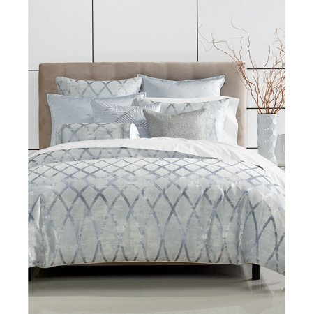 Hotel Collection Dimensional Elegant Jacquard Pattern Bedding Comforter, Size: Full/Queen, Blue