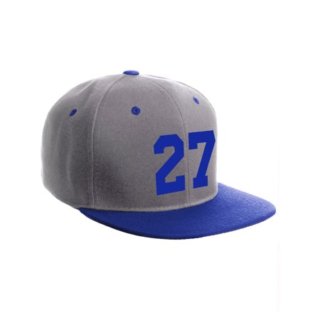 Classic Flat Bill Visor Snapback Hat Customized Color Player Team Number 0 to