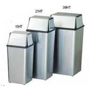 Witt Industries 21HTSS Push top hamper and top- stainless steel