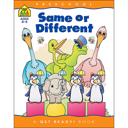 School Zone Preschool Workbooks , Same Or Different