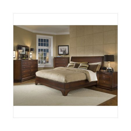 lifestyle solutions hailey bedroom set in antique walnut
