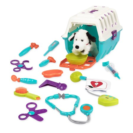 High Supply - Dalmatian Vet Kit - Interactive Vet Clinic and Cage Pretend Play for Kids (15 (B Critter Clinic Toy Vet Play Set)