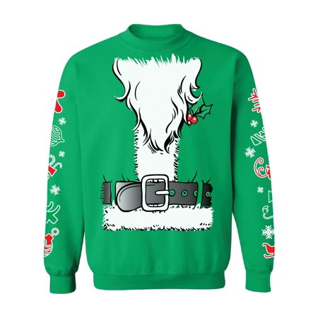 f976b603987e Awkward Styles Santa Claus Sweatshirt for Christmas Funny Santa Sweater  with Graphic Sleeves Santa Claus Suit Ugly Christmas Sweater Funny Christmas  Gifts ...