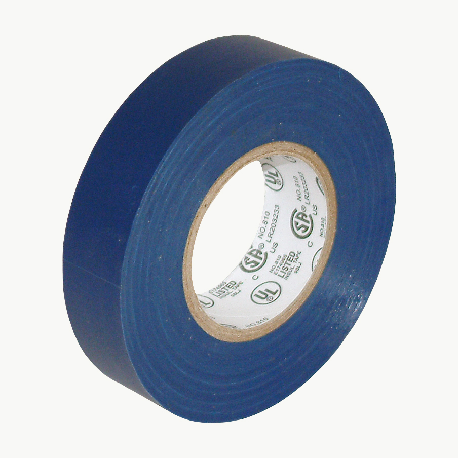 JVCC E-Tape Colored Electrical Tape: 3/4 in. x 66 ft. (Blue)