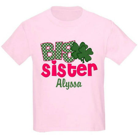 8f82815b CafePress Personalized Big Sister Shamrock T-Shirt - Walmart.com