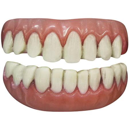 tinsley transfers long tooth 2pc false teeth fx, white - Big White Teeth Halloween