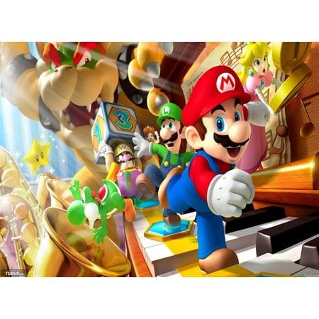 Super Mario Bros. Princess Luigi Wario Yoshi Bowser Edible Cake Topper Image ABPID00132V2](Royal Princess Cake)