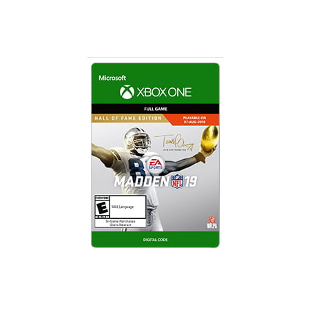 Madden NFL 19 - Hall of Fame Edition, Electronic Arts, XBOX One, [Digital Download]