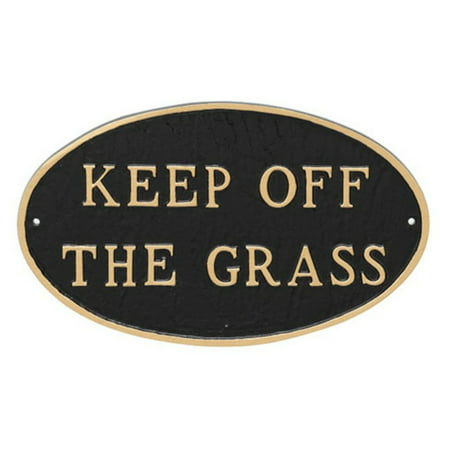 - Montague Metal Products Keep off the Grass Oval Lawn Plaque