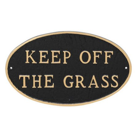 Montague Metal Products Keep off the Grass Oval Lawn (Oval Resin Plaque)