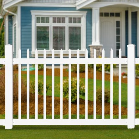 Digging Fence Posts (Wam Bam No-Dig Fence 4 ft. H x 6 ft. W Nantucket Fence)