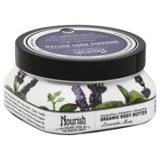 Nourish Organic Body Butter Lavender Mint Sensible Organics 3.6 oz Cream